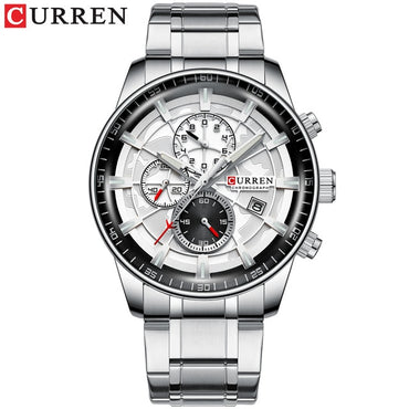 New Men Watches CURREN Brand Chronograph Quartz Watch