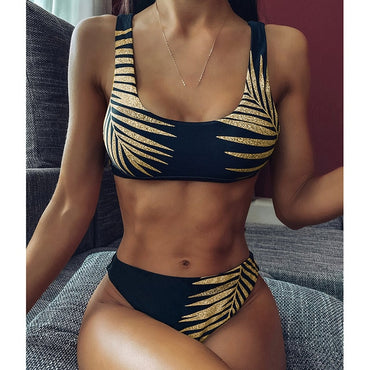 High Waist Bikini Mujer Sexy Push Up Swimwear Women