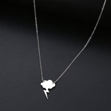 New Simple Sequin Cloud Necklaces Lightning