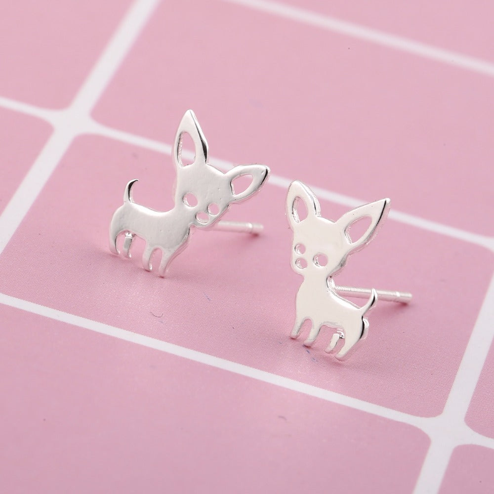 New Arrival Chihuahua Earrings for Women Cute Dog Stud