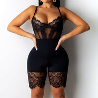 New Arrival Women Sexy Romper Lace Backless Bodycon Jumpsuit