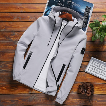 Jacket Men Zipper New Arrival Brand Casual Solid Hooded