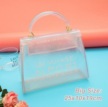 New Fashion Transparent Jelly Handbag
