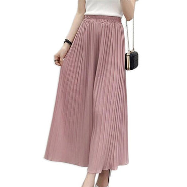 2020 summer new wide leg pants women's casual loose chiffon
