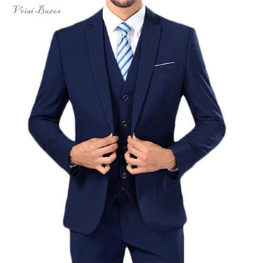 New Men's Suit Smolking Noivo Terno Slim Fit