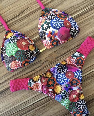 New Floral Print Bikini Set Summer Beachwear Bathers Bathing Suit