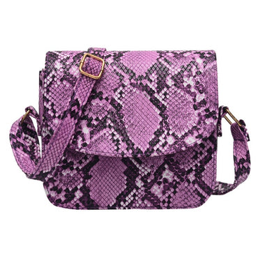 New fashion women's outdoor buckle snake pattern Messenger bag mobile phone