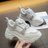 Women Chunky Sneakers Vulcanize Shoes Korean Fashion