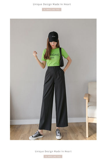 High Waist Chiffon Wide Pants Women's 2020