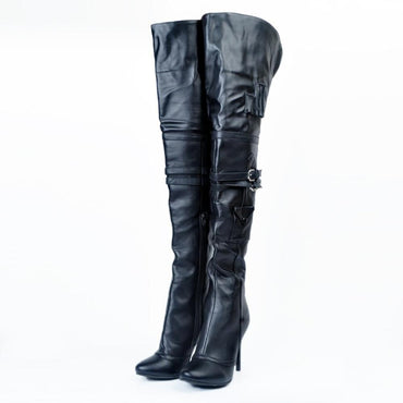 New Handmade Womens High Heel Over Knee Boots Sexy Night-club Party