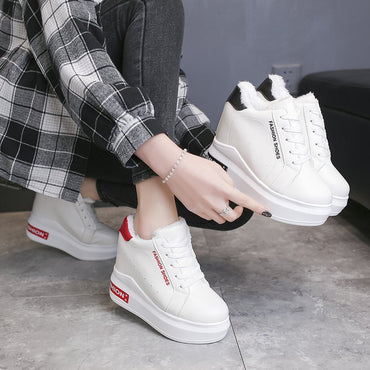 New Increase Women's Winter Sneakers With Fur High Top Sneakers