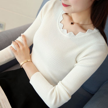 New Womens Knitted Slim Sweater Long Sleeve