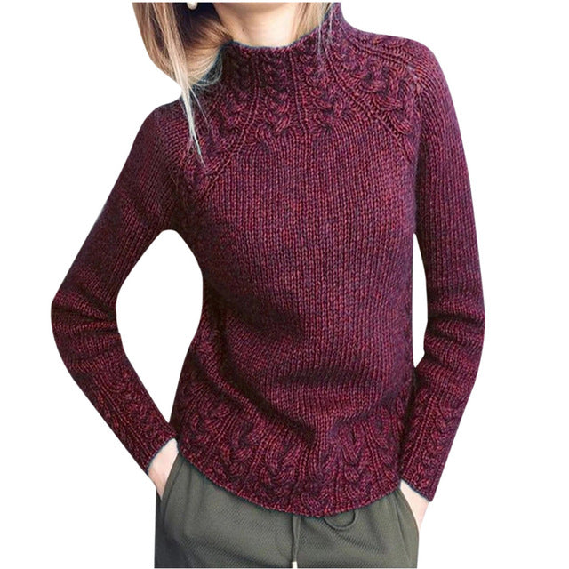 2020 NEW Women Sweater Solid Color Linen