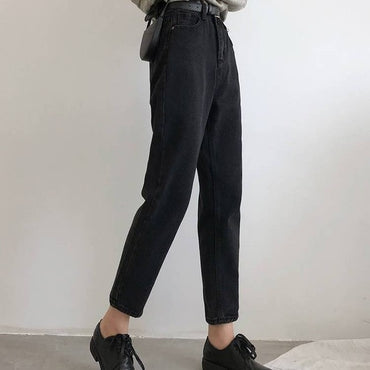 BF Korean High Jeans Women