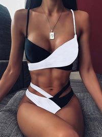 New top sexy solid swimwear push up bikini