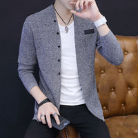 Fall 2020 new men sweater knitting cardigan on outside