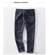 New Top quality Men's Summer Casual Pants Natural Cotton