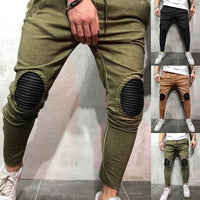 New Style Fashion Hot Men's Patchwork With Pocket Pants Casual Trousers