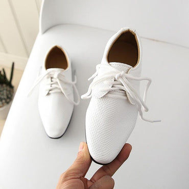 2020 New Kids Genuine Leather Wedding Dress Shoes