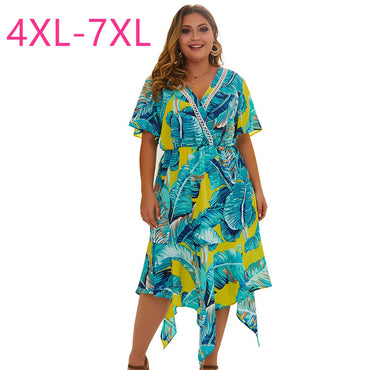 New summer plus size midi dress for women