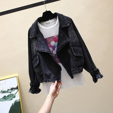 Autumn New Women Jacket Short Denim Jackets