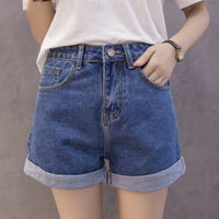 Denim Short New Korean Fashion High Waist Women Loose Casual Denim Shorts
