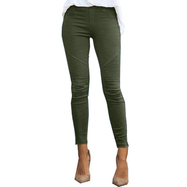 New Women Jeans Legging Blue Striped Print