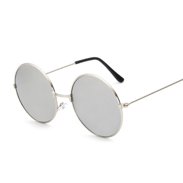 New Fashion Candy Vintage Round Mirror Sunglasses Women