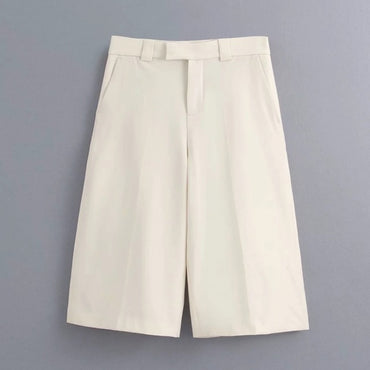 New 2020 women solid color kneeth length pants