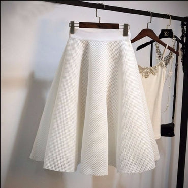 2020 New Fashion Hollow Out High Waist Women Skirts Korean