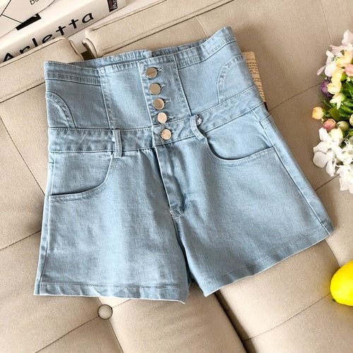 High Wait Jean Shorts Women Spring Summer New Denim Shorts