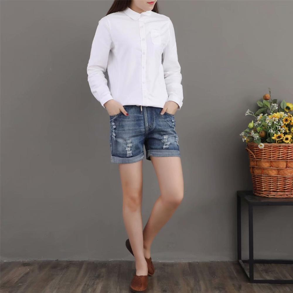 Summer New Denim Shorts Jeans Woman Elastic Waist  2020