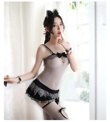 New Women Sleepwear Women's Lace Sling Lingerie Dress Sexy