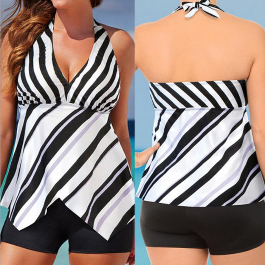2020 Women High Waisted Bathing Suits Twill Swimsuit Plus-sized bikinis Swimwear