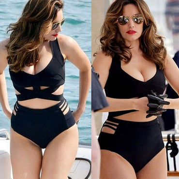 2020 Sexy Bikini European and American Black Sexy Plus Full Size Bikini