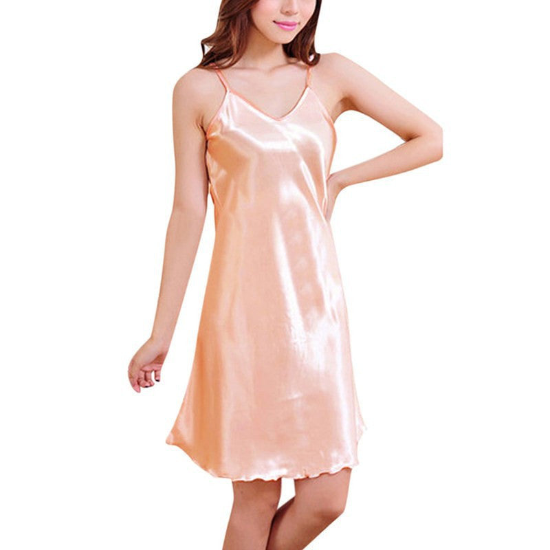 Ladies Sexy Silk Satin