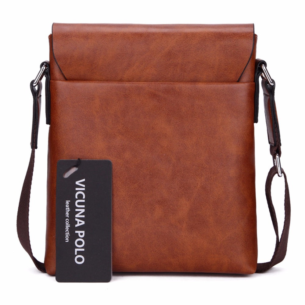 Durable Frosted Leather Men Messenger Bag