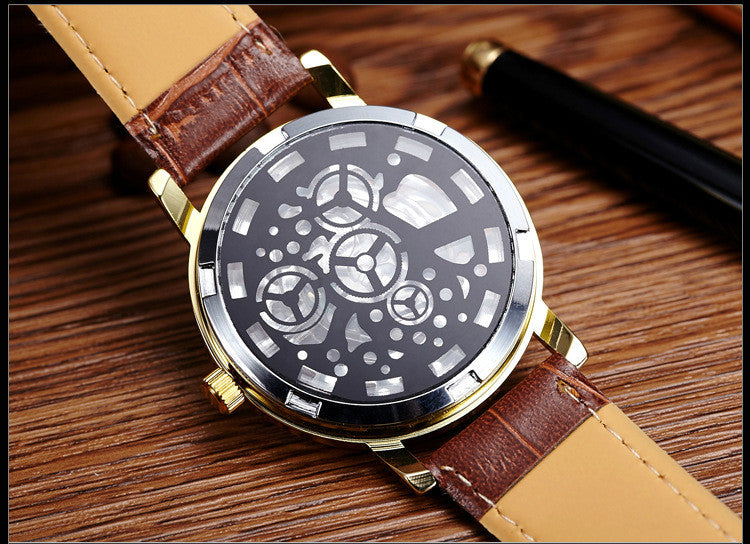 2018 New Luxury Fashion Skeleton Watch