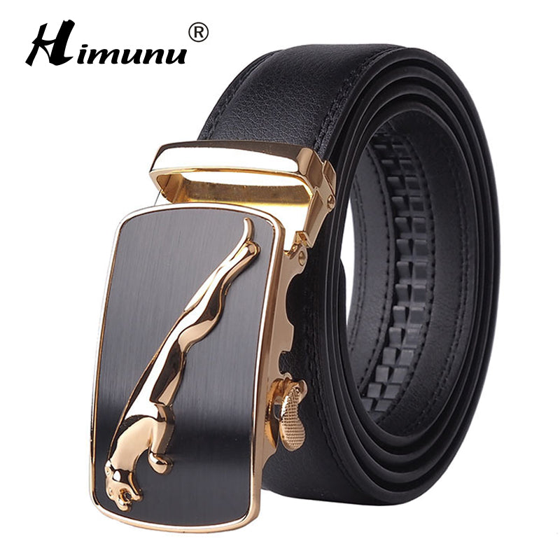 Panther Cowhide Leather Belt