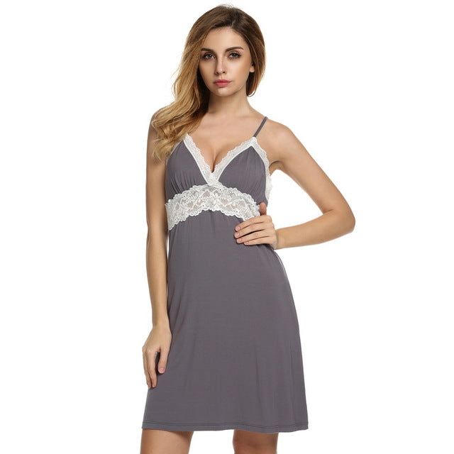 Nightgown Women Sexy Spaghetti Strap