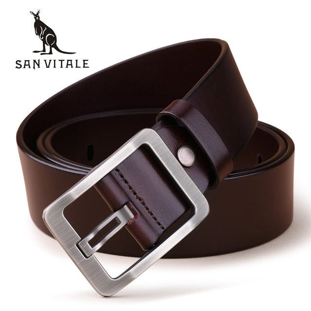 100% Cowhide Genuine Leather Belts - GaGodeal