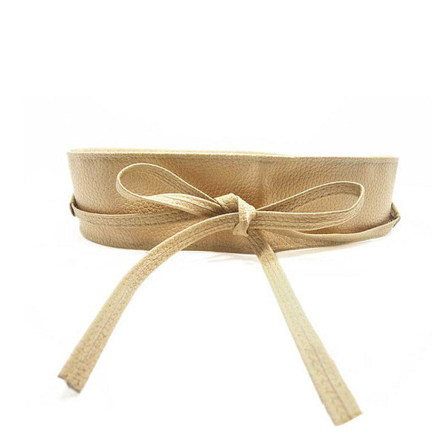 Belt Soft Leather Wide Self Tie