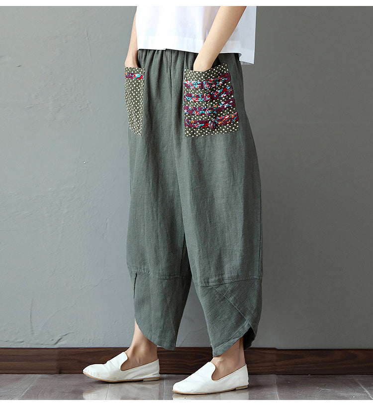 Linen Trousers Women Wide Leg - GaGodeal