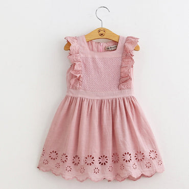 Lilota Style Embroidered Sleeveless Princess Dress For Girl