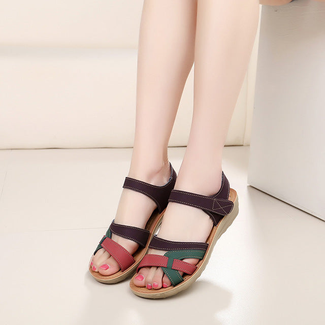Sandals soft leather large