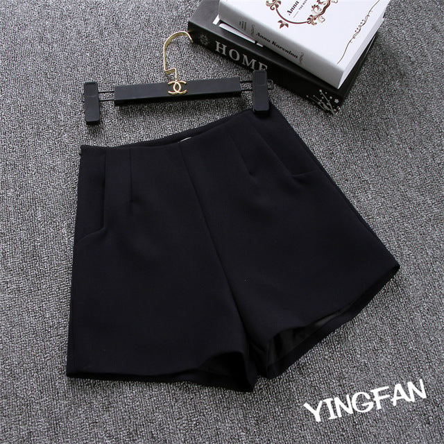 High Waist Casual Suit Shorts - GaGodeal