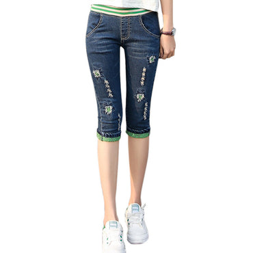 Denim Pants Capri Bottom