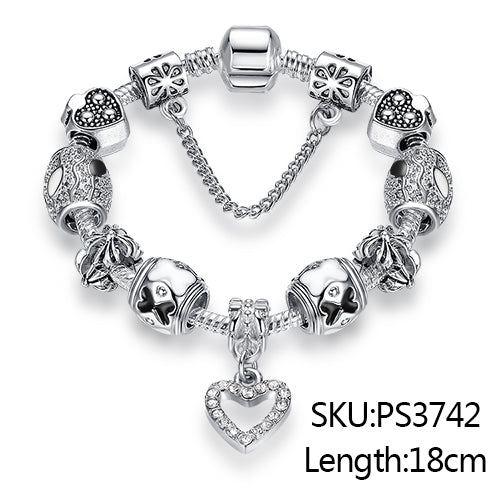 Luxury  Bracelet 925 Unique Silver Crystal - GaGodeal