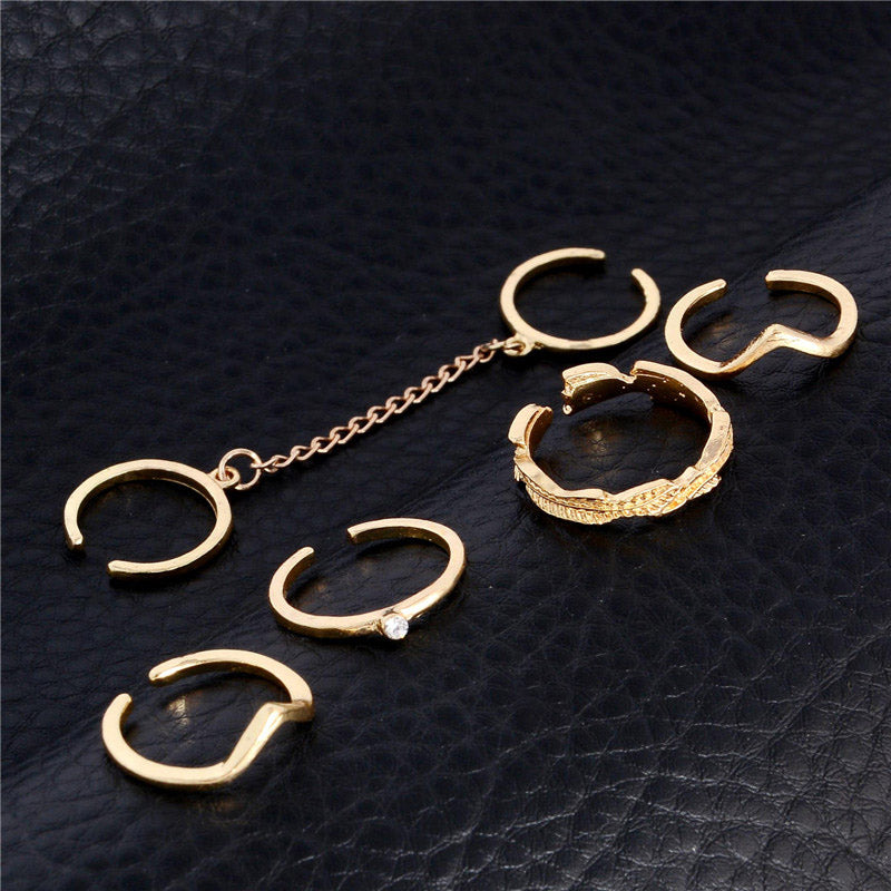 Ring Set Punk style Gold Color - GaGodeal