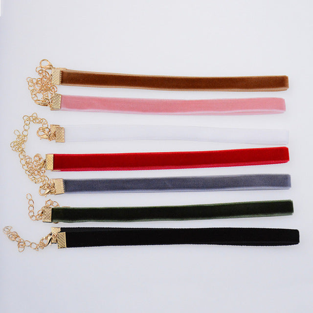 Mix 12 Colors 12 pcs/pack Tattoo Rainbow Chokers - GaGodeal